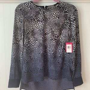 Grey and blue leopard patterned Vince Camuto shirt